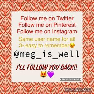 Follow me & I'll follow you!!😻💜